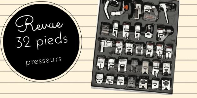 32 Pieds presseurs machine a coudre