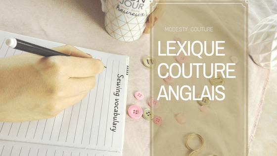 Le lexique couture anglais français