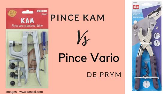 La différence entre la pince Kam et la pince Vario de Prym