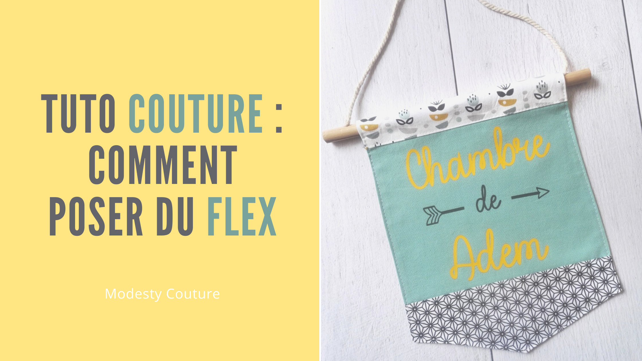 Tuto couture : comment poser du flex